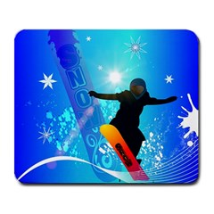 Snowboarding Large Mousepads by FantasyWorld7
