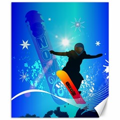Snowboarding Canvas 8  X 10  by FantasyWorld7