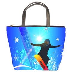 Snowboarding Bucket Bags by FantasyWorld7