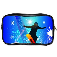 Snowboarding Toiletries Bags 2 Side by FantasyWorld7