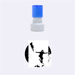 Snowboarding Rubber Round Stamps (small) by FantasyWorld7