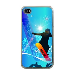 Snowboarding Apple Iphone 4 Case (clear) by FantasyWorld7