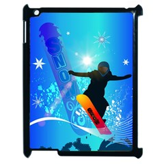 Snowboarding Apple Ipad 2 Case (black) by FantasyWorld7