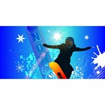 Snowboarding Best Friends 3D Greeting Card (8x4)  Back