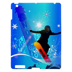 Snowboarding Apple Ipad 3/4 Hardshell Case by FantasyWorld7