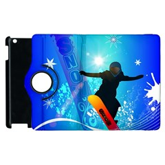 Snowboarding Apple Ipad 3/4 Flip 360 Case by FantasyWorld7