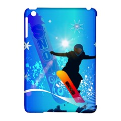 Snowboarding Apple Ipad Mini Hardshell Case (compatible With Smart Cover) by FantasyWorld7