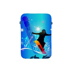 Snowboarding Apple Ipad Mini Protective Soft Cases by FantasyWorld7