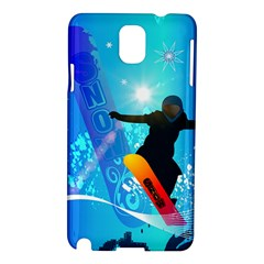Snowboarding Samsung Galaxy Note 3 N9005 Hardshell Case by FantasyWorld7