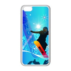 Snowboarding Apple Iphone 5c Seamless Case (white) by FantasyWorld7