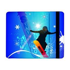 Snowboarding Samsung Galaxy Tab Pro 8 4  Flip Case by FantasyWorld7