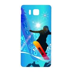 Snowboarding Samsung Galaxy Alpha Hardshell Back Case by FantasyWorld7
