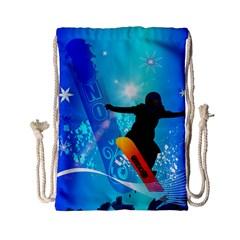 Snowboarding Drawstring Bag (small)