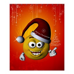Cute Funny Christmas Smiley With Christmas Tree Shower Curtain 60  X 72  (medium)  by FantasyWorld7