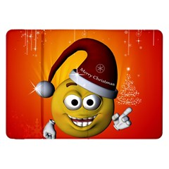 Cute Funny Christmas Smiley With Christmas Tree Samsung Galaxy Tab 8 9  P7300 Flip Case by FantasyWorld7