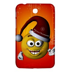 Cute Funny Christmas Smiley With Christmas Tree Samsung Galaxy Tab 3 (7 ) P3200 Hardshell Case  by FantasyWorld7