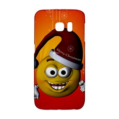 Cute Funny Christmas Smiley With Christmas Tree Galaxy S6 Edge by FantasyWorld7