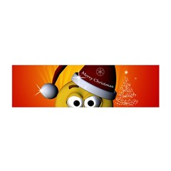 Cute Funny Christmas Smiley With Christmas Tree Satin Scarf (oblong) by FantasyWorld7