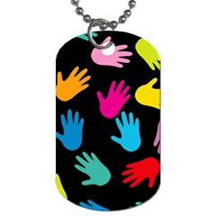 All Over Hands Dog Tag (One Side) by ImpressiveMoments