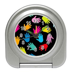 All Over Hands Travel Alarm Clocks by ImpressiveMoments