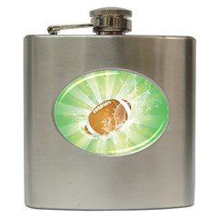 American Football  Hip Flask (6 Oz) by FantasyWorld7