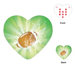 American Football  Playing Cards (heart)  by FantasyWorld7
