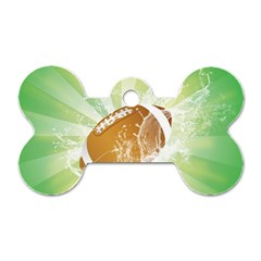 American Football  Dog Tag Bone (two Sides) by FantasyWorld7