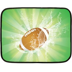 American Football  Fleece Blanket (mini) by FantasyWorld7
