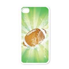 American Football  Apple Iphone 4 Case (white) by FantasyWorld7