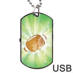 American Football  Dog Tag Usb Flash (one Side) by FantasyWorld7