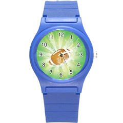 American Football  Round Plastic Sport Watch (s) by FantasyWorld7
