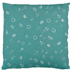 Sweetie Soft Teal Large Flano Cushion Cases (One Side)  by MoreColorsinLife