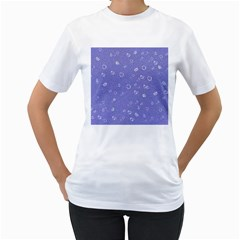 Sweetie Soft Blue Women s T Shirt (white) (two Sided) by MoreColorsinLife