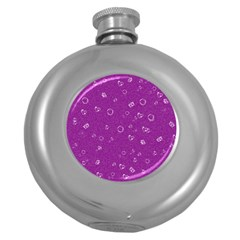 Sweetie,purple Round Hip Flask (5 Oz) by MoreColorsinLife