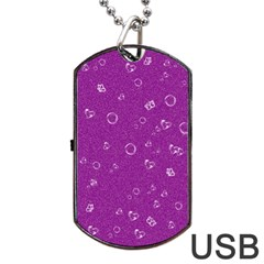 Sweetie,purple Dog Tag USB Flash (One Side) by MoreColorsinLife