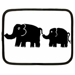 Elephant And Calf Netbook Case (xxl)  by julienicholls
