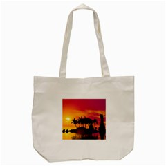 Wonderful Sunset Over The Island Tote Bag (cream)  by FantasyWorld7