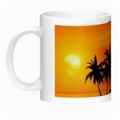 Wonderful Sunset Over The Island Night Luminous Mugs by FantasyWorld7
