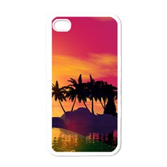 Wonderful Sunset Over The Island Apple Iphone 4 Case (white) by FantasyWorld7
