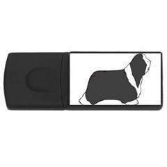 Bearded Collie color silhouette USB Flash Drive Rectangular (4 GB)  by TailWags