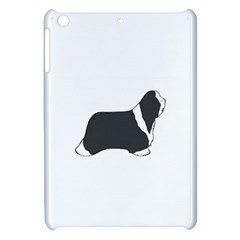 Bearded Collie color silhouette Apple iPad Mini Hardshell Case by TailWags