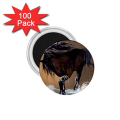 Beautiful Horse With Water Splash 1 75  Magnets (100 Pack)  by FantasyWorld7