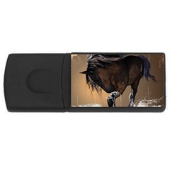 Beautiful Horse With Water Splash USB Flash Drive Rectangular (2 GB)  by FantasyWorld7