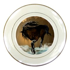 Beautiful Horse With Water Splash Porcelain Plates by FantasyWorld7