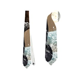 Beautiful Horse With Water Splash Neckties (two Side)