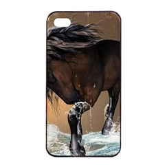 Beautiful Horse With Water Splash Apple Iphone 4/4s Seamless Case (black) by FantasyWorld7