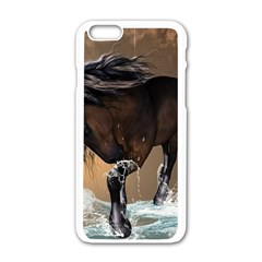 Beautiful Horse With Water Splash Apple Iphone 6/6s White Enamel Case by FantasyWorld7
