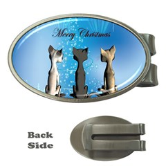 Merry Chrsitmas Money Clips (oval)  by FantasyWorld7