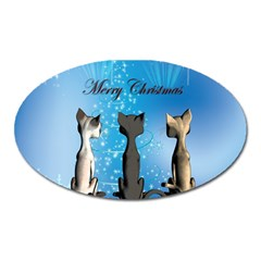 Merry Chrsitmas Oval Magnet by FantasyWorld7