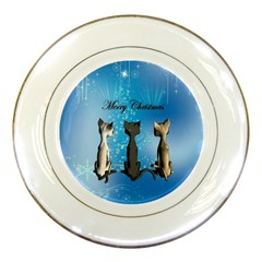 Merry Chrsitmas Porcelain Plates by FantasyWorld7